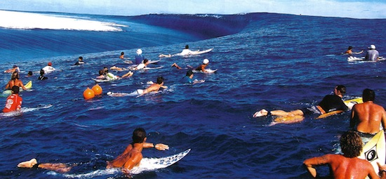 Teahupoo surfing freak wave