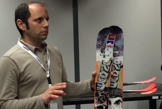 De prototype/productie ski van olympische medaille winnaar Marie Martinod.